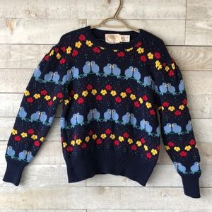 Susan Bristol Love Birds sweater